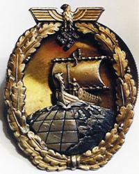 Военный знак вспомогательных крейсеров с бриллиантами (фото из музея ВМФ в Гамбурге)